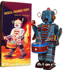 Drummer Robot Wind Up Large
