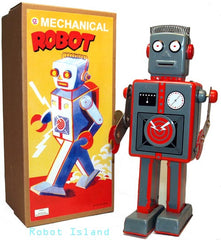 Giant Easelback Robot Windup Tin Toy - SALE!