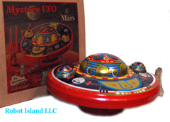Flying Saucer Mars Quest Tin Toy Windup