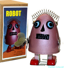 Baby Robot Egg Tin Toy Windup Baby Robot Purple - Sale!