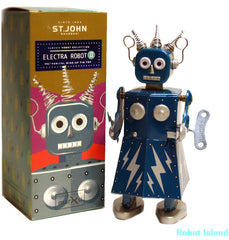 Electra Robot Tin Toy Windup St. John Toys