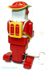 Fireman Robot Tin Toy Windup - SALE!
