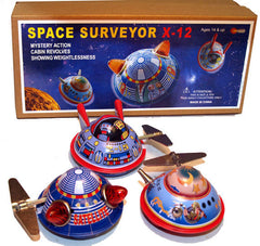 Flying Saucer Tin Toy Windup Set of 3 Space Toys