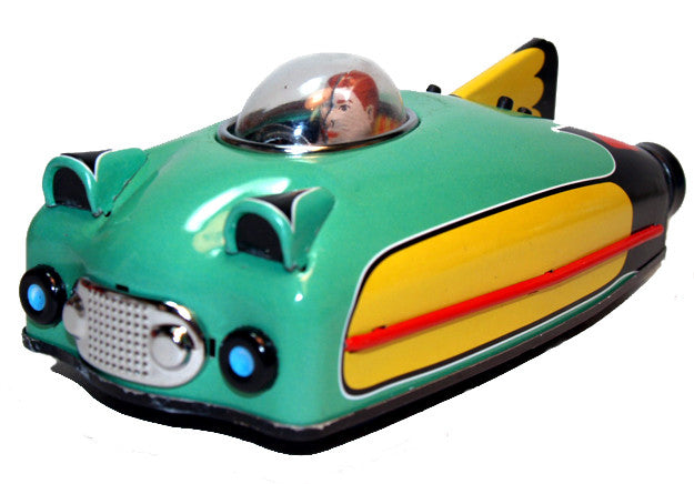 Space Ship Future Car Tin Toy Green - Schylling Toys