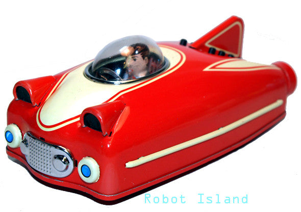 Space Ship Future Car Red Tin Toy - Schylling Toys