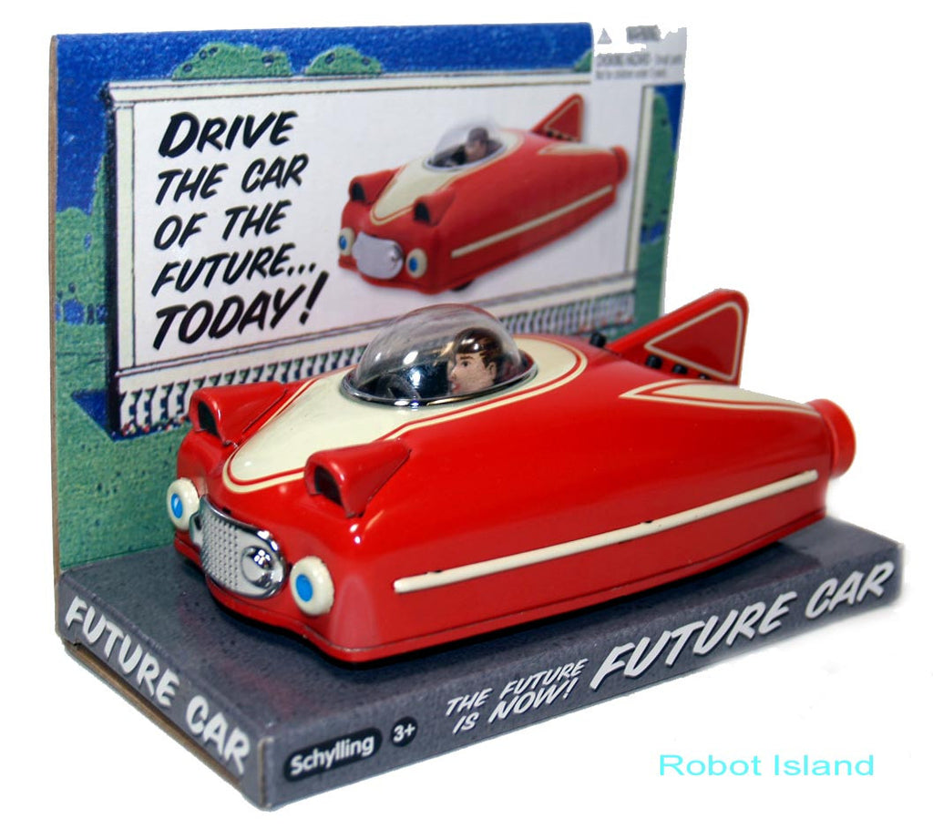 Space Ship Future Car Red Tin Toy Schylling Toys
