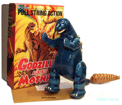 Godzilla Windup Robot Japan Tin Toy with Mothra Billiken