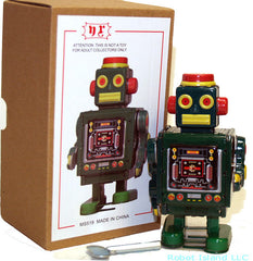 Horikawa Style Tin Toy Robot Windup Green NEW