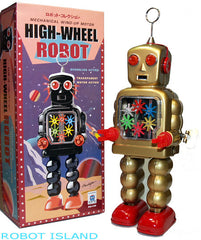 High Wheel Gear Robot Wind Up GOLD - SALE!