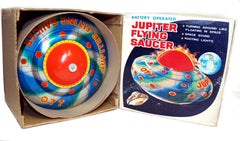 KO Japan Jupiter Flying Saucer Tin Toy