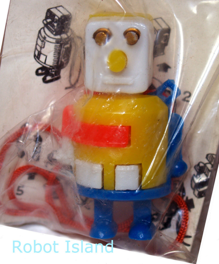 Robot Keychain Japan Dexterity Puzzle Yellow