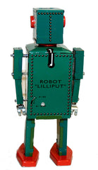 Lilliput Robot Tin Toy Windup Green - SALE!