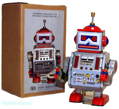 Wind up Robot Tin Toy Little Giant