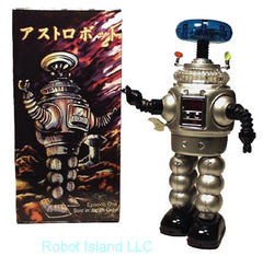 Lost in Space Robot YM-3 Silver Tin Toy Windup