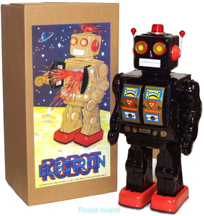 ME100 Robot Black Mr. D Cell with Gold Doors Battery Operated - SOLD OUT!