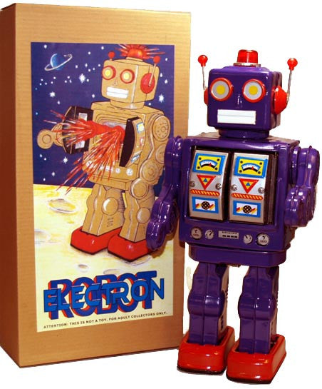 ME100 Robot Purple Mr. D Cell Battery Operated