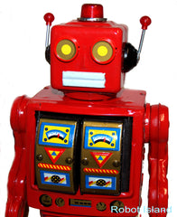 ME100 Tin Toy Robot RED Mr. D Cell Battery Operated For Display Only