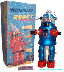 Blue Mechanized Robby The Robot Osaka Tin Toy Japan Limited Edition