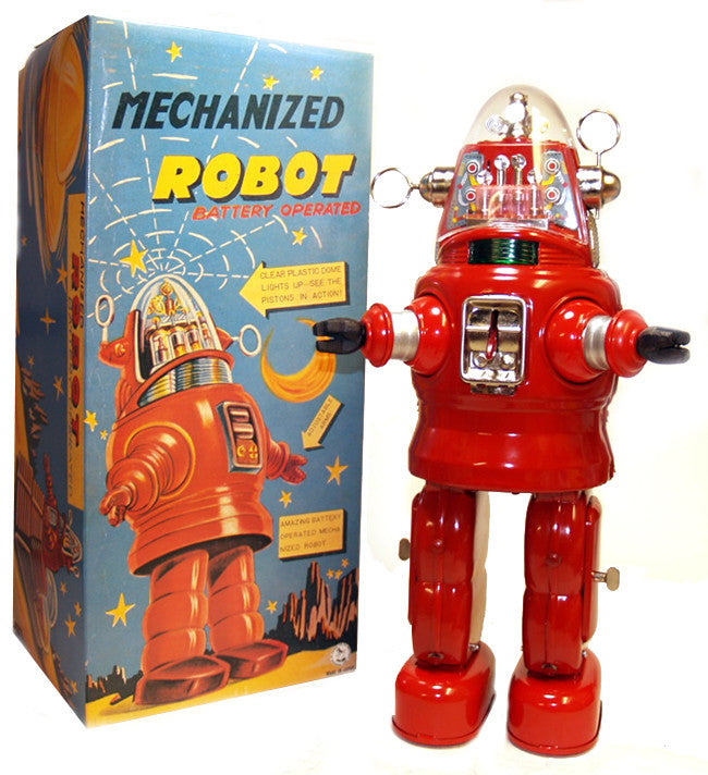 Mechanized Robby the Robot Tin Toy Japan Red - SALE!