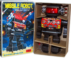 Horikawa Missile Robot Japan Tin Toy Battery Operated - SOLD