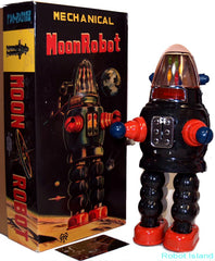Black Moon Robot Robby the Robot Tin Toy Windup Limited Edition - SUMMER SALE!