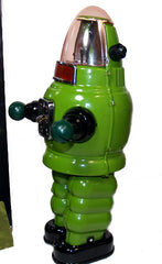 Moon Robot Robby the Robot Tin Toy Windup Limited Edition GREEN