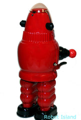 Robby the Robot a/k/a Moon Robot RED Tin Toy Windup Limited Edition
