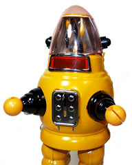 Moon Robot Robby the Robot Tin Toy Windup Limited Edition YELLOW