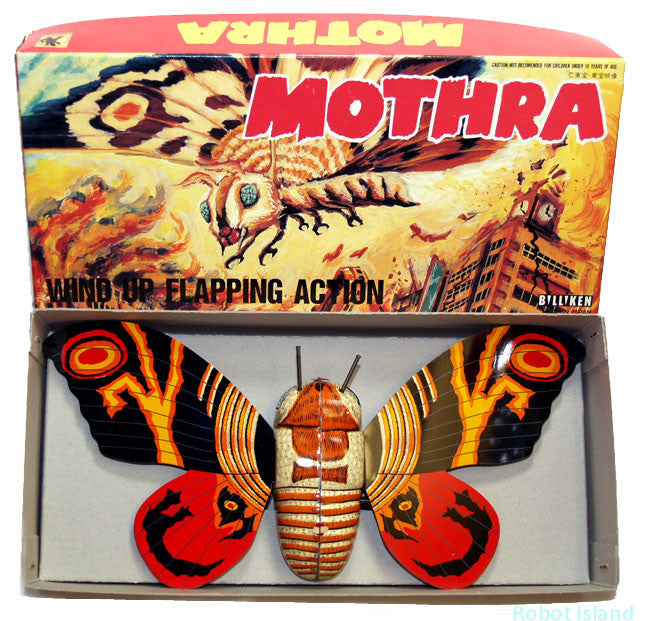 Billiken Godzilla Mothra Robot Japan  Windup