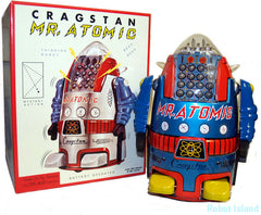 Cragstan Mr. Atomic Robot Japan Blue Osaka Tin Toy
