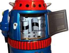Cragstan Mr. Atomic Robot Japan Blue Osaka Tin Toy - SOLD!