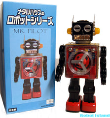 Aviator Mr. Pilot Robot Prototype Japan Metal House