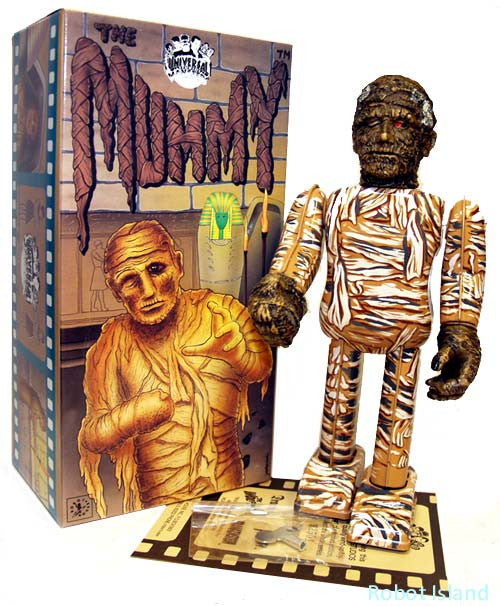JUST ARRIVED! The Mummy Robot Tin Toy Windup Metal House Japan