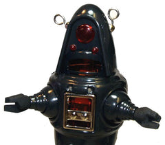 Robby the Robot Tin Toy Windup Twilight Zone Gun Metal Grey