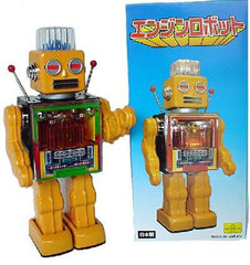 Engine Robot Metal House Japan Piston Engine Tin Toy