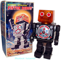 Horikawa Piston Head Robot Japan Tin Toy - SOLD!