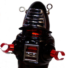 Planet Robot Robby the Robot Black Windup Tin Toy