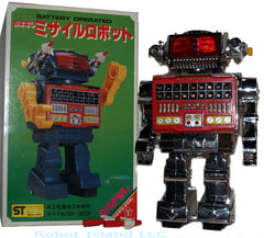 Chrome Talking Robot Yonezawa Japan Vintage