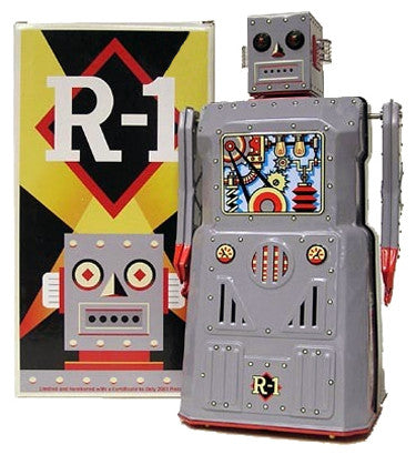 R-1 Robot Tin Toy Rocket USA Battery Operated - SALE!