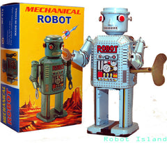 Cylinder Head Robot R-35 Wind Up Tin Toy