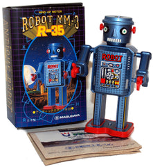 Japan R-35 Masudaya Robot Wind up tin toy