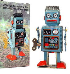 Clockwork Windup Radar Robot Tin Toy - HOLIDAY SALE!