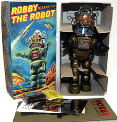 Billiken Robby the Robot Tin Toy Windup Japan Green - SALE!