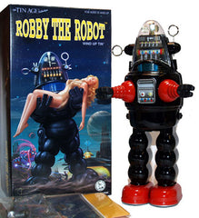 Black Robby the Robot Osaka Tin Toy Windup Limited Edition