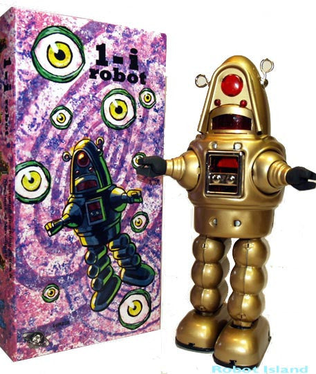 Deluxe Robby the Robot Tin Toy Windup GOLD Twilight Zone Edition