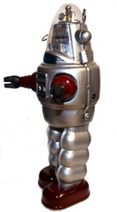 Osaka Tin Toy Robby the Robot Windup Silver Edition - SALE!