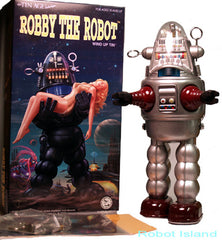 JUST ARRIVED! Osaka Tin Toy Robby the Robot Windup Silver Edition - SALE!