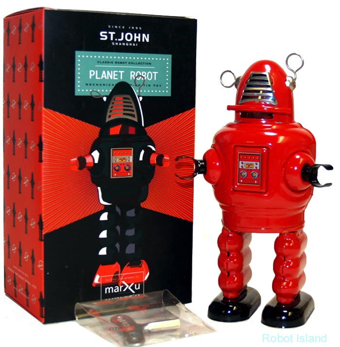 Baby Robby the Robot Jr. Windup Tin Toy Edition Red St. John Toys