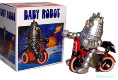 Baby Robby The Robot Windup Tin Toy Windup Tricycle
