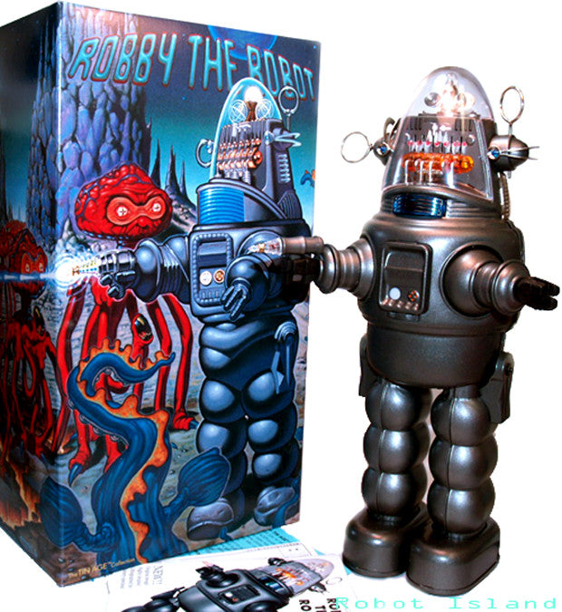JUST ARRIVED! Robby the Robot with Blaster Osaka Tin Toy Japan Japan - SALE!